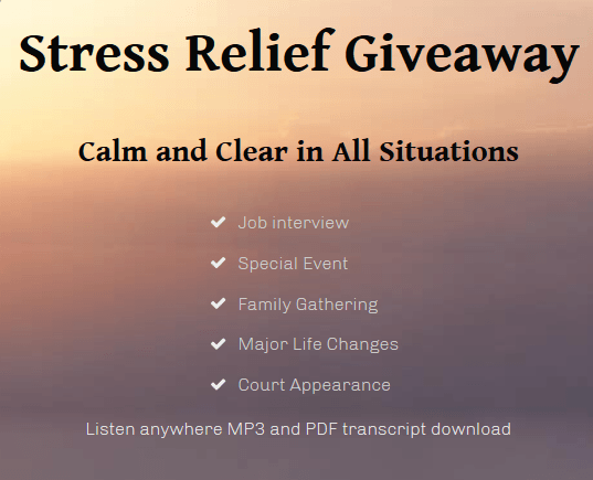 stress relief giveaway